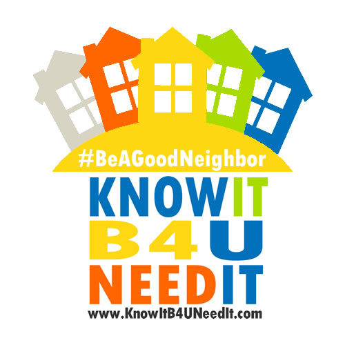 Be A Good Neighbor Program the 2021 Iniative for the Know It Before You Need It Campaign in Richland County Ohio
