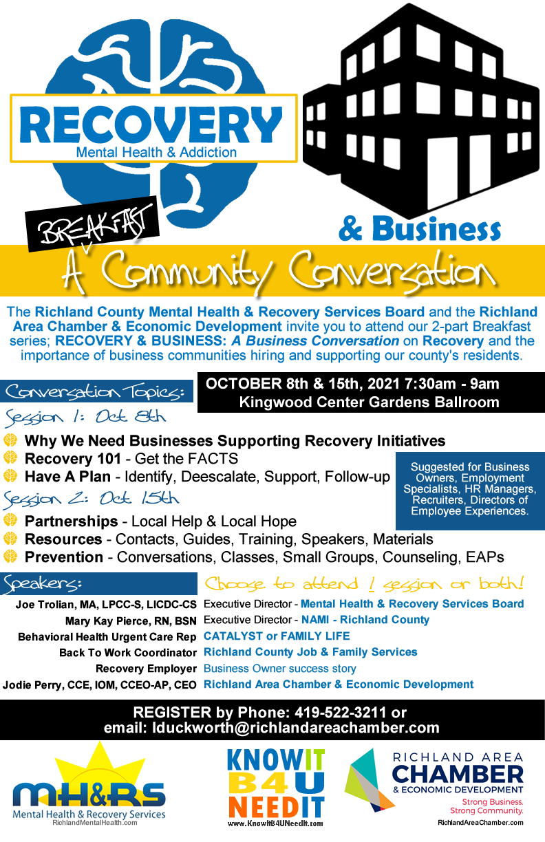 Recovery & Business 2 Part Breakfast Series